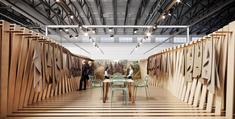 conceria-superior-stand-première-vision-parigi-aquilialberg-architects